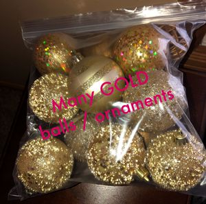 Mix of Gold Table Decor Balls Ornaments for Sale in Maple Grove, MN