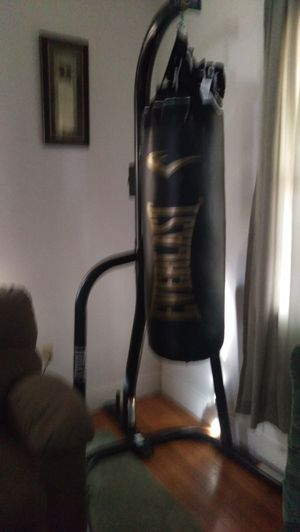 Everlast punching bag and gloves newly bought two weeks ago for 250 and gloves 30. Selling both for 100 for Sale in Harrisonburg, VA