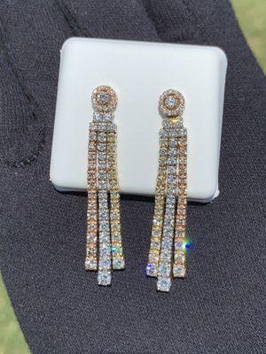 Tricolor Diamond Earrings for Sale in Phoenix, AZ