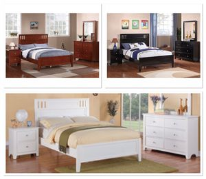 Brand new twin $199 full $250 wooden bed frame no mattress for Sale in Miami, FL