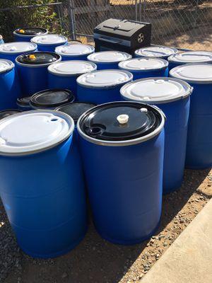 Barrels/ 55 Gallons Plastic Open Top for Sale in Hesperia, CA
