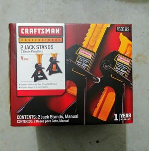READ DESCRIPTION. Still available. Price firm. No trades. One Pair NEVER USED Craftsman Professional 4 ton Jack stand Pair for Sale in West Columbia, SC