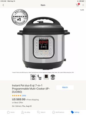 Instant Pot Duo 6 Qt. (Pi-Duo60) for Sale in NV, US