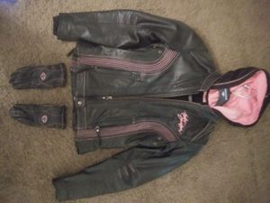 Harley Davidson Jacket with gloves for Sale in Festus, MO