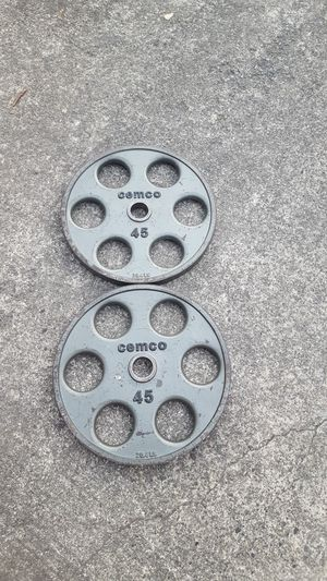 Cemeco Olympic Plates Free Weights for Sale in Steilacoom, WA
