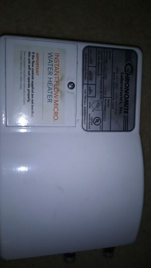 Chronomite electric tankless water heater for Sale in Bellingham, WA