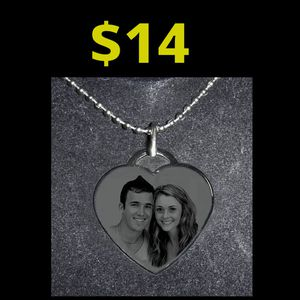 **PERSONALIZED Heart Necklace -Any photo - great gift for Sale in Rancho Cucamonga, CA