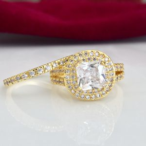 18k gold plated wedding engagement ring band set size 6,7,8,9 available jewelry accessory for Sale in Spencerville, MD