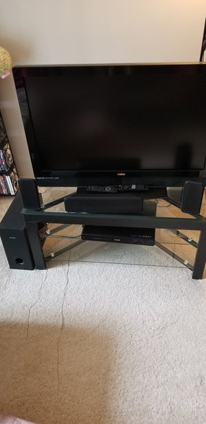 "3-Tier TV Stand Storage Console with Storage Shelves for TV up to 50"" for Sale in Atlanta, GA"
