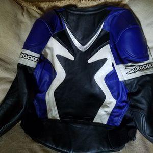 "Joe Rocket ""UFO"" Leather MOTORCYCLE Racing JACKET for Sale in Stone Mountain, GA"