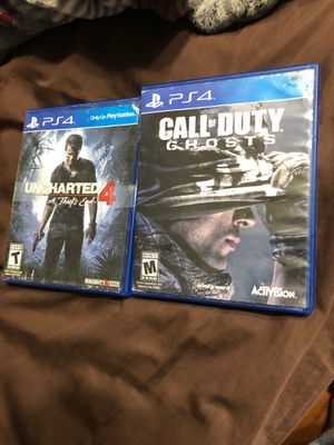 Uncharted 4 and call of duty ghost for Sale in San Antonio, TX