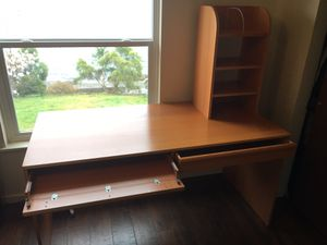 Desk with two large drawers and small shelf for Sale in Port Orchard, WA