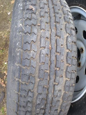 Trailer rims and tires. Sold for Sale in Great Barrington, MA