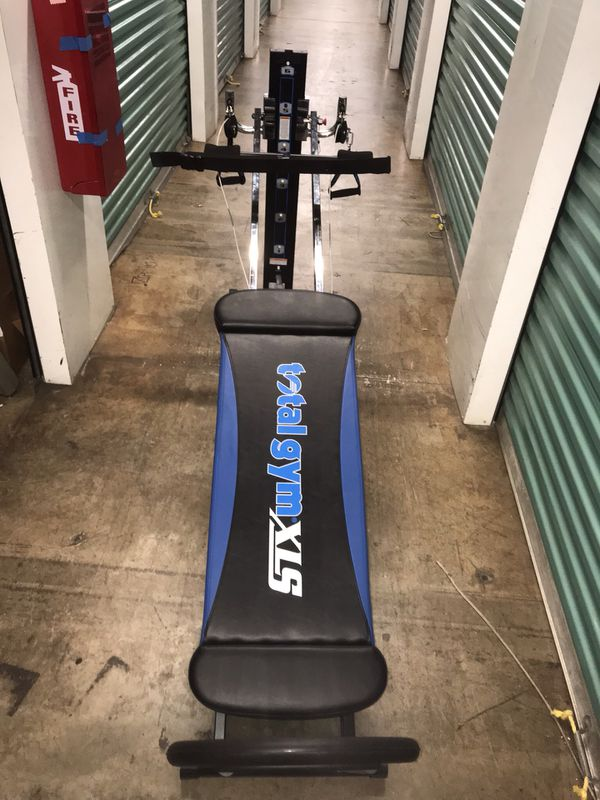 Total Gym XLS with squat stand and wing Attachment