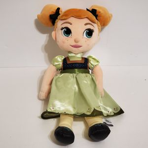 """Disney Animators Collection 13"""" Frozen Toddler Anna Doll Stuffed Plush for Sale in Brookfield, IL"""