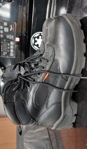 Red Wing Black Work Boots by Worx Size 10.5 Safety Toe Waterproof Side Zip Lace for Sale in Fort Lauderdale, FL