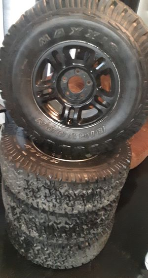 NEW! Tires with black original ford rims for Sale in Bakersfield, CA