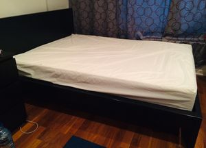 IKEA MALM Queen bed frame and firm mattress for Sale in Baltimore, MD