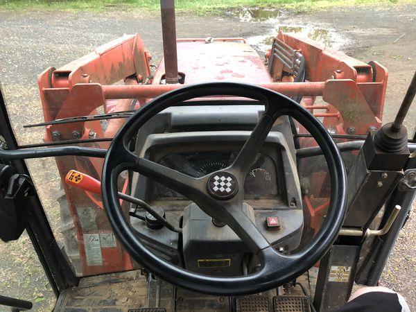 Tractor and bush hog