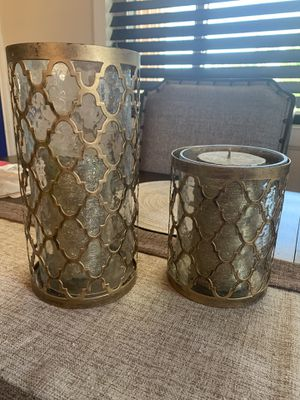 Two Gold Candle Holders for Sale in Escondido, CA