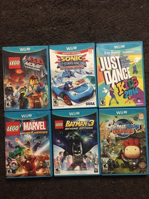 6 NINTENDO WII U GAMES for Sale in San Diego, CA