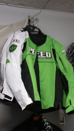 Kawasaki green motorcycle jacket size large for Sale in Los Angeles, CA