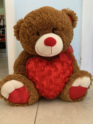 Big Teddy Bear with Heart for Sale in Pinecrest, FL