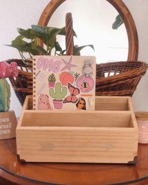 Wooden boho Mail desk organizer for Sale in Coronado, CA