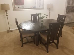 dining table and chairs lamps and stools need gone for Sale in Laveen Village, AZ