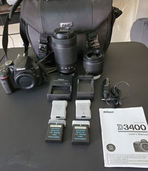 Nikon D3400 DSLR Camera with Extras for Sale in Davenport, FL