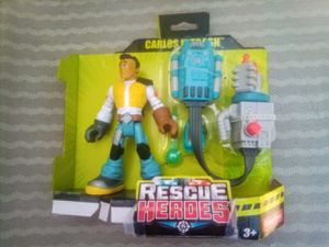 FISHER PRICE RESCUE HEROES CARLOS KITBASH ACTION FIGURE for Sale in FALLING WTRS, WV
