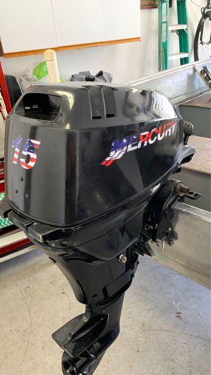 15 hp mercury 4 stroke shortshaft outboard motor for Sale in Cypress, CA