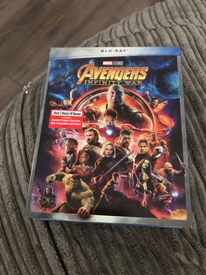 Avengers Infinity War Blu-Ray for Sale in Midland, TX