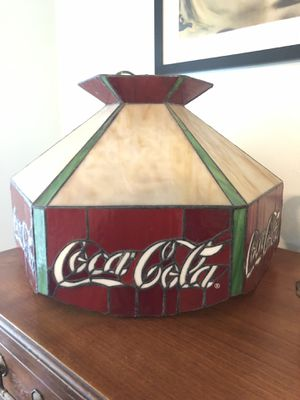 Vintage Coca Cola Hanging Light Fixture for Sale in Pompano Beach, FL