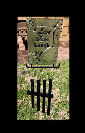 Live Love Laugh Green Stained Glass Wind Chime Sun Catcher for Sale in Nashville, TN