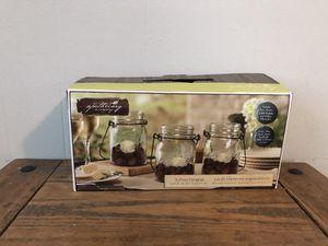 3 piece Apothecary Mason jar LED tea light candle holder for Sale in Lebanon, TN