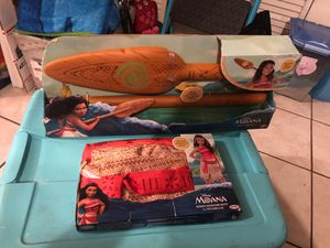 Disney Moana outfit and magic Oar light up for Sale in Tampa, FL
