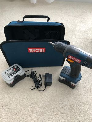 Ryobi rechargeable drill, with 2 batteries and case for Sale in Haymarket, VA