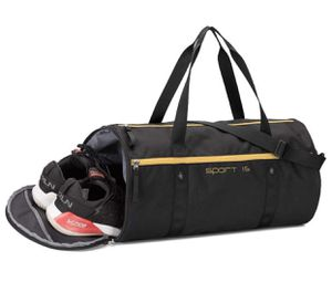 Sports Gym Duffel Bag for Men Women with Shoes Compartment Foldable Lightweight Overnight Travel Carry On Tote Bag Black for Sale in Peoria, AZ