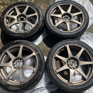 17 inch Drag wheels/tires with 2 spare tires for Sale in Columbus, OH