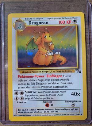 vintage Pokemon card holo wotc * german Dragonite fossil sale or trade read description for Sale in Manteca, CA