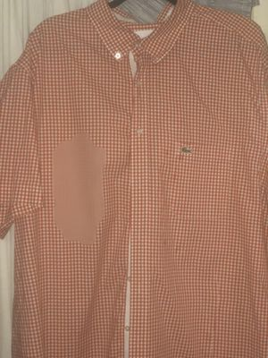 Lacoste orange and white gingham check for Sale in Bensalem, PA