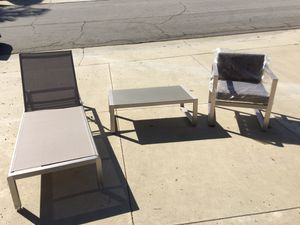 Patio Set Lounge, Chair & Table Metal Frame Brand New for Sale in Walnut, CA