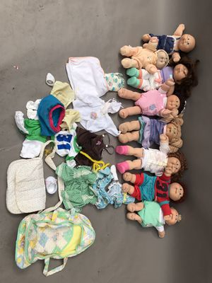 GROUP OF VINTAGE COLLECTABLE CABBAGE PATCH DOLLS 1970s-1980s for Sale for sale  Pasadena, CA