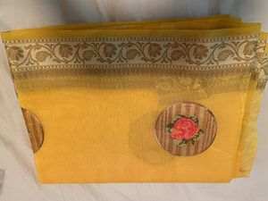 Mustard yellow Embroidery Kota Saree for Sale in Queens, NY