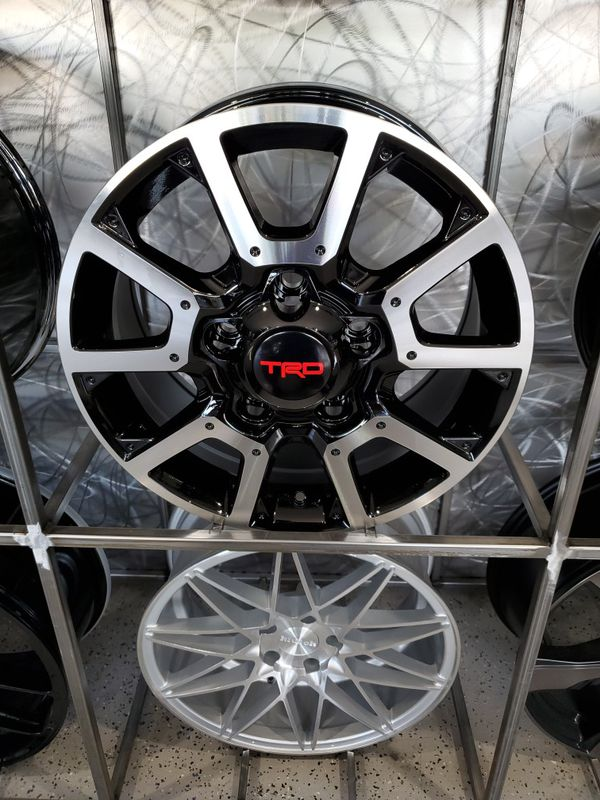 "18"" TRD tundra style wheel black machine rims wheel tire shop"