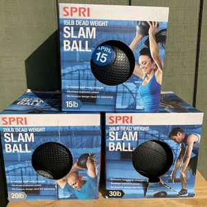 Spri 15 lb 20 lb 30 lb dead weight Slam Ball Medicine Ball for Sale in City of Industry, CA