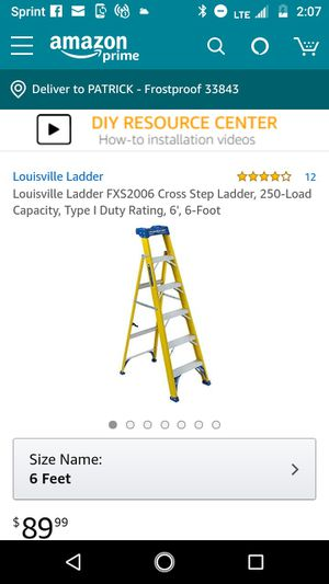 6' ladder NEW NOT USED for Sale in Frostproof, FL