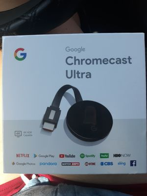 Google Chromecast Ultra Streaming Player for Sale in Houston, TX