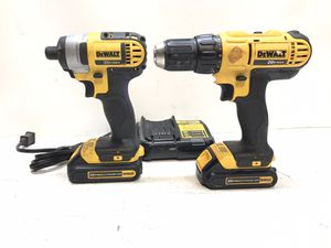 20-Volt MAX Lithium-Ion Cordless Drill/Driver and Impact Combo Kit (2-Tool) with (2) Batteries 1.3Ah, Charger and Bag for Sale in Bakersfield, CA